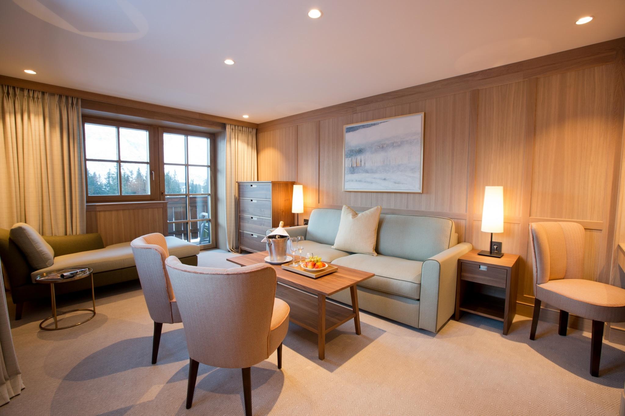 Die Platin Suite ist die Familiensuite im Lecher 5 Sterne Hotel Sonnenburg