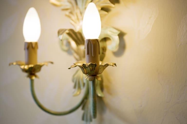 Dekorlampe im 4-Sterne-Superior-Hotel Landhaus Sonnenburg