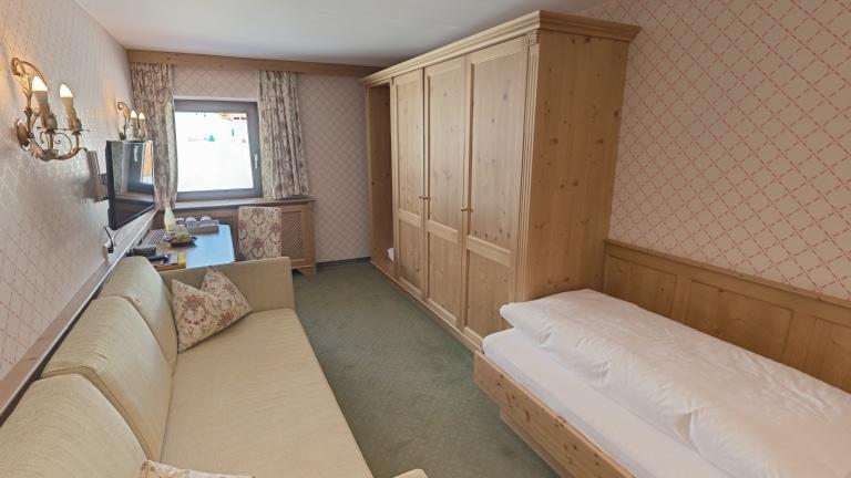 Einzelzimmer im Landhaus Sonnenburg mit Einzelbett