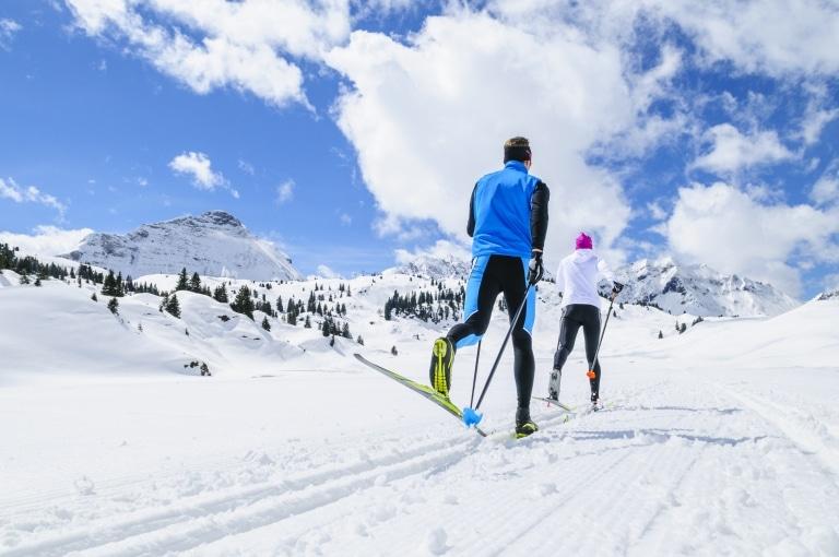 Langlaufen in Lech ist dank der zahlriechen Loipen vielseitig
