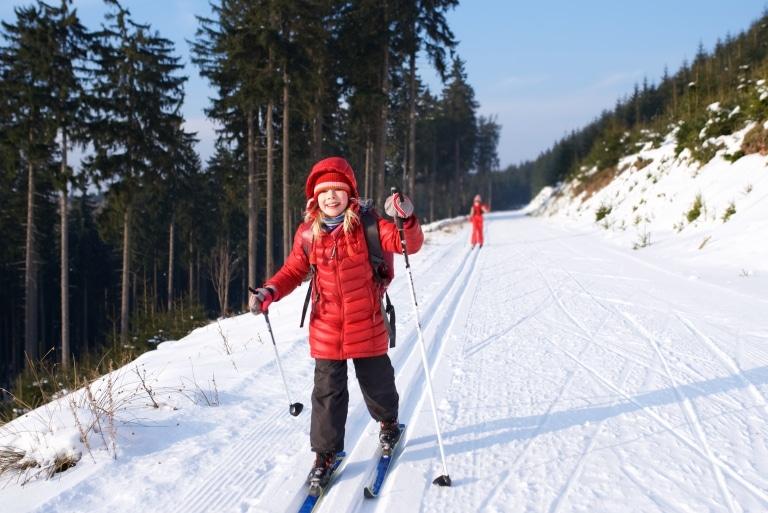 Skilanglauf -für Kinder und Eltern in Lech am Arlberg ein Riesenspaß