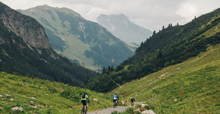 Mountainbiken am Arlberg ist vielseitig