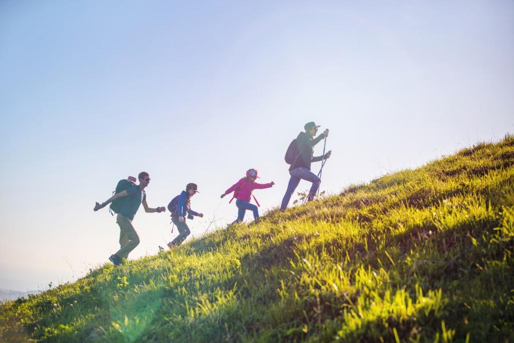 Gemeinsames Wandern in den Lecher Bergen