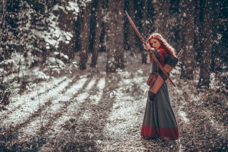 Bogenschießen während der Tolkien Tage in Oberlech