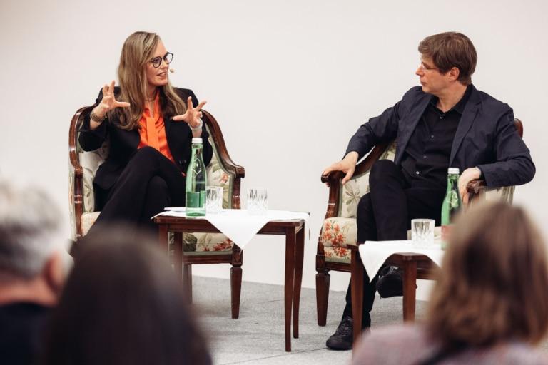 Literaturgespräch im Rahmen des Literaricum Lech zwischen Nicola Steiner und Daniel Kehlmann